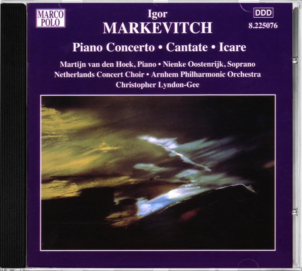Markevich: Piano Concertos, Marco Polo 8.225076