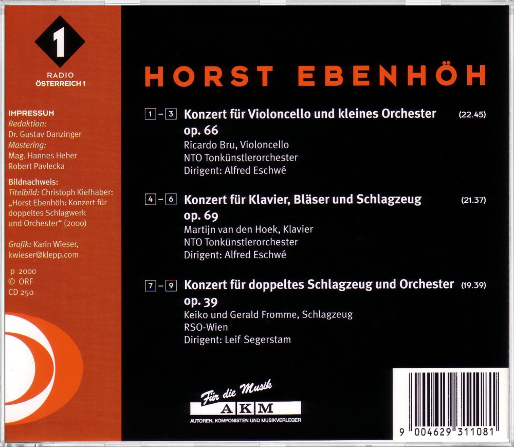 Ebenhöh: Pianoconcerto (Back), ORF CD 250