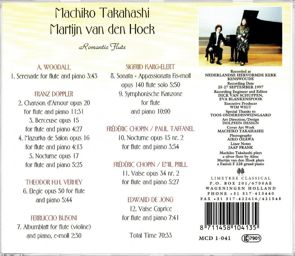 Romantic Flute (Back), Limetree Records MCD 1-041