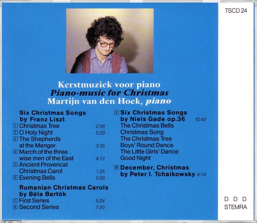 Piano Music for Christmas (Back), TSCD 24