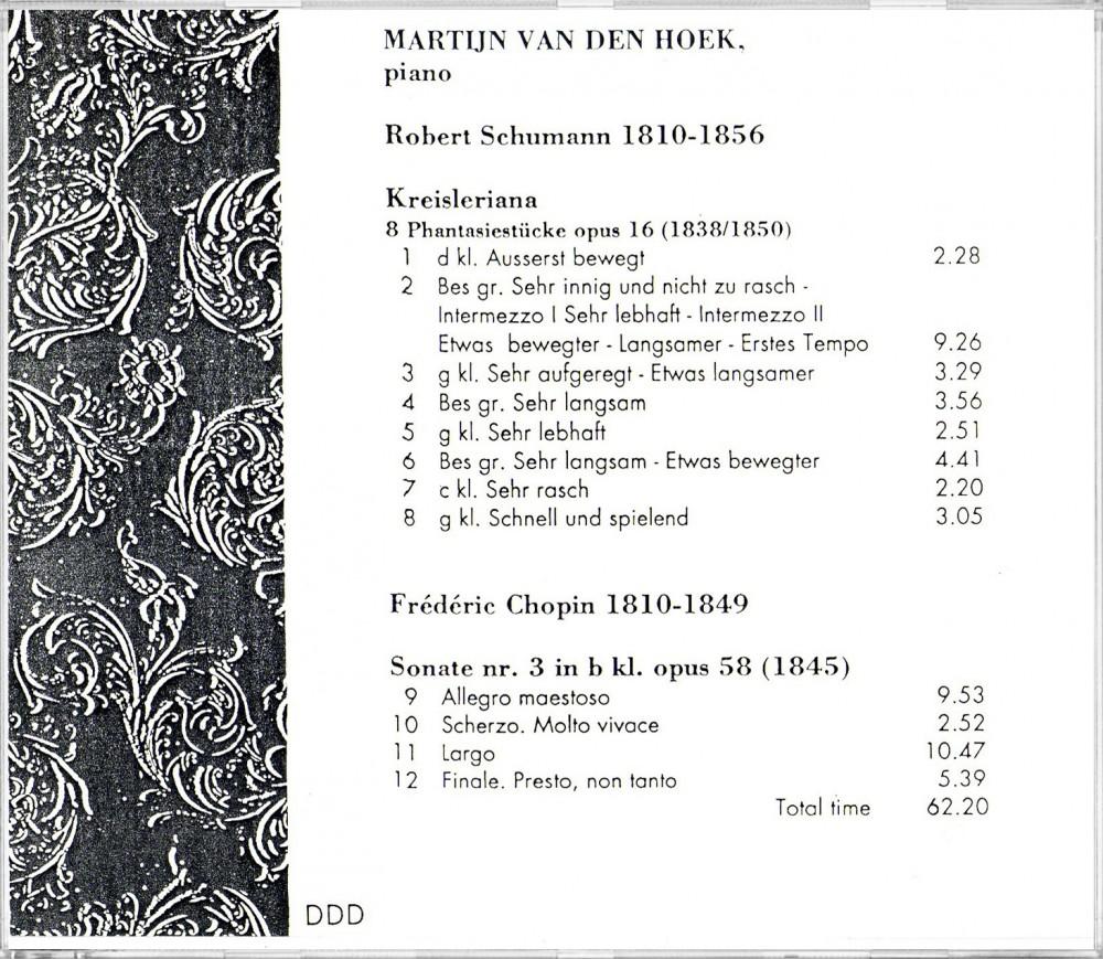 Schumann / Chopin (Back)